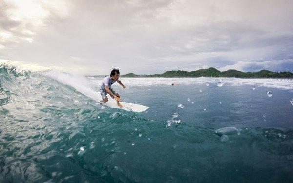Surf Lombok island Desert Point